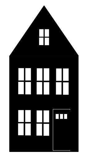 The paper houses that I shared with you in my previous post  were truly quite easy to make.Each house is a separate design that I created i...