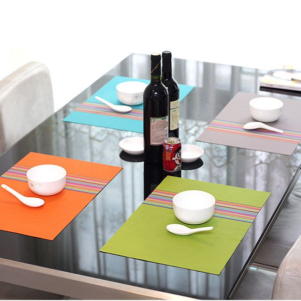 48Pcslot Free Shipping Placemat Pvc Dining Table Mat Disc Pads Bowl Extraordinary Pad For Dining Room Table
