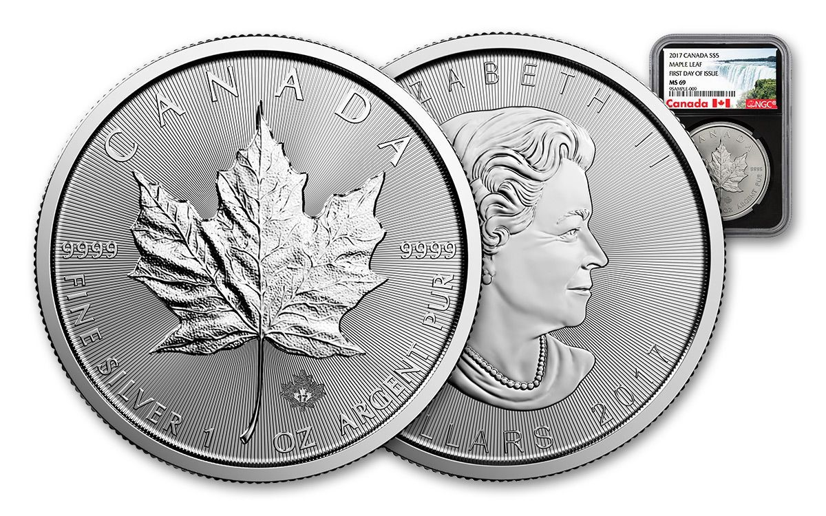 2017 1 Oz Silver American Eagle Bu Monedas 1 Oz Billetes