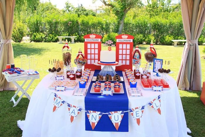 London Themed Birthday Party Via Karas Ideas KarasPartyIdeas Decor Cake Printables Invitation Cupcakes Etc