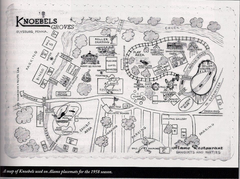 Knoebels Amut Park Campground Map on