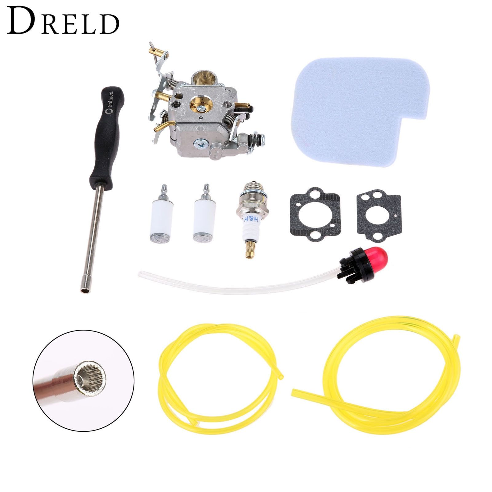 Dreld Carburetor Carb Gasket Fuel Filter Primer Bulb Air Filter