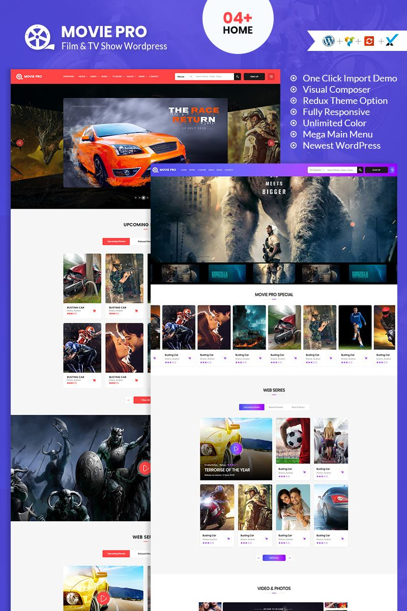 Movie Pro Film Video And Tv Show Wordpress Theme 95294 In 2020