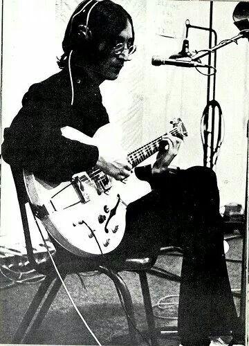 John During A White Album Recording Session 1968 John Lennon Beatles John Lennon Guitar Imagine John Lennon