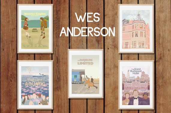 WES ANDERSON COLLECTION !!  Movie Art Posters set - Prints