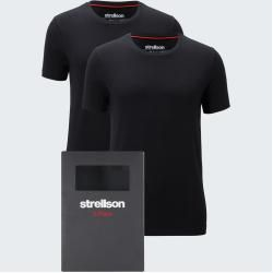 T-Shirt 2er Pack, schwarz Strellson