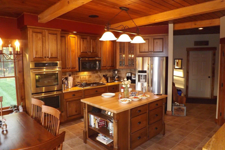 Barn House Kitchen Black And White Striped Rug Polebarn Pinterest