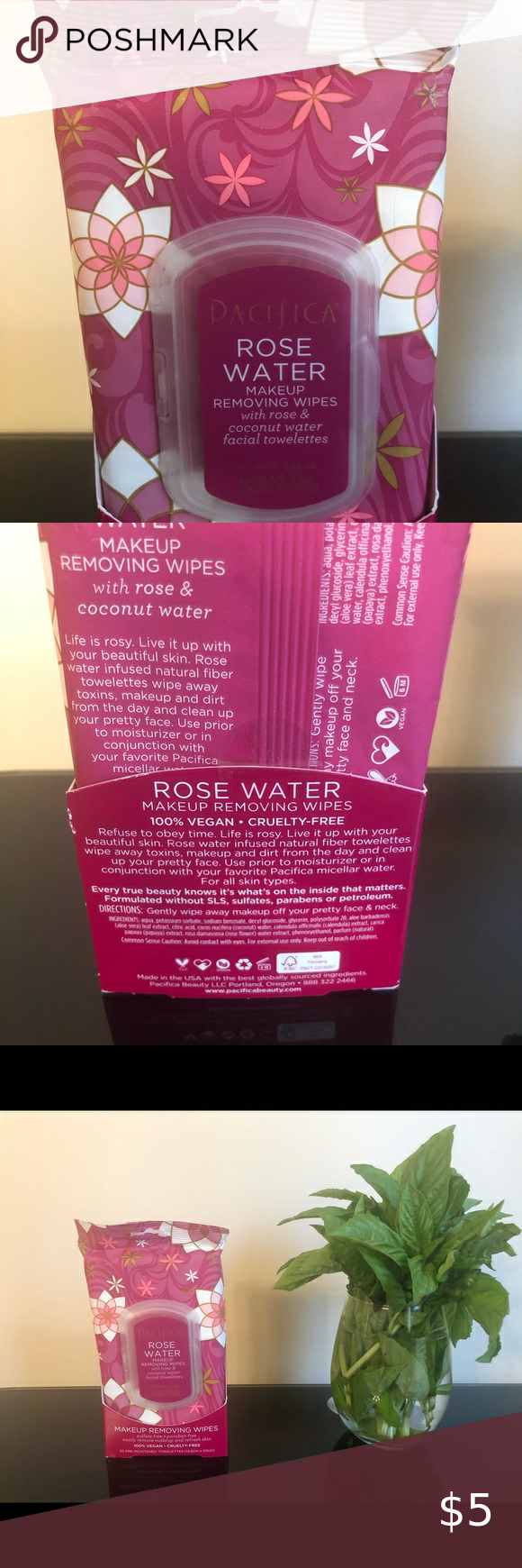 Pacifica Rose Makeup Removal Wipes in 2020 Makeup