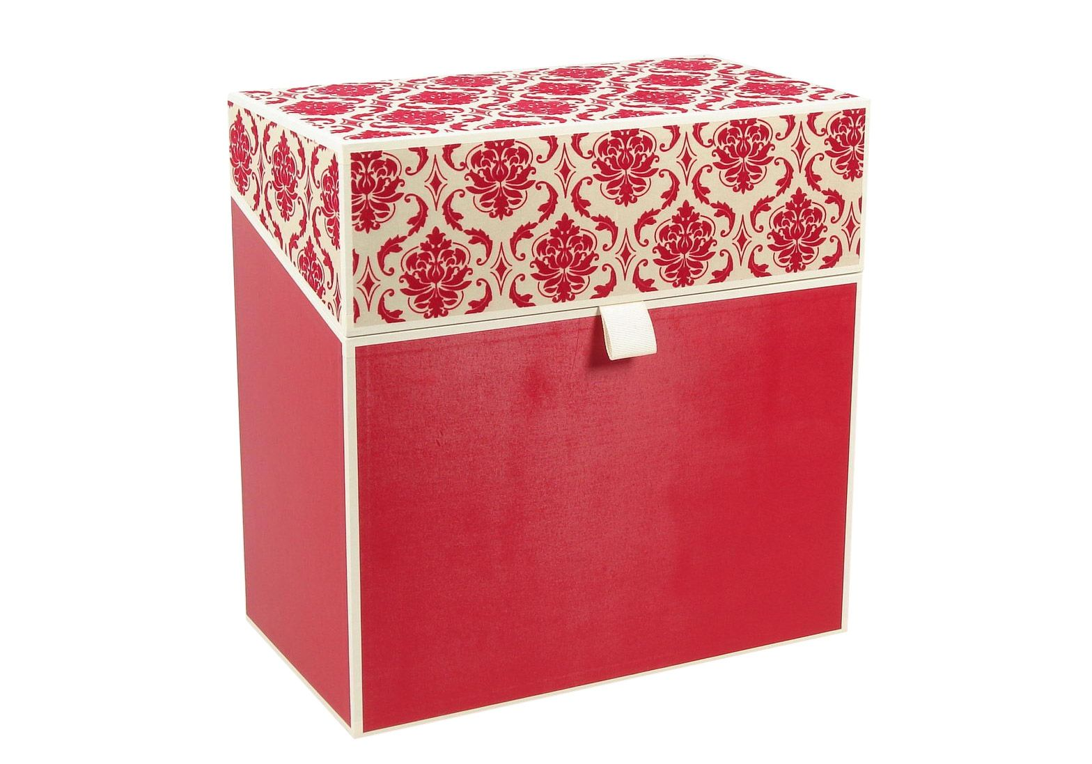Paper Decorative Boxes Home Sweet Craft Room Oversized Stationary Box  Scarlet Diy