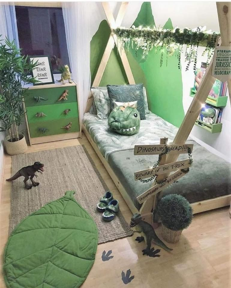 This Darling Dino Decor Is Perfect For Any Little Explorer S Space Dinosaur Decor Bedroom Dinosaur Room Decor Dinosaur Boys Room