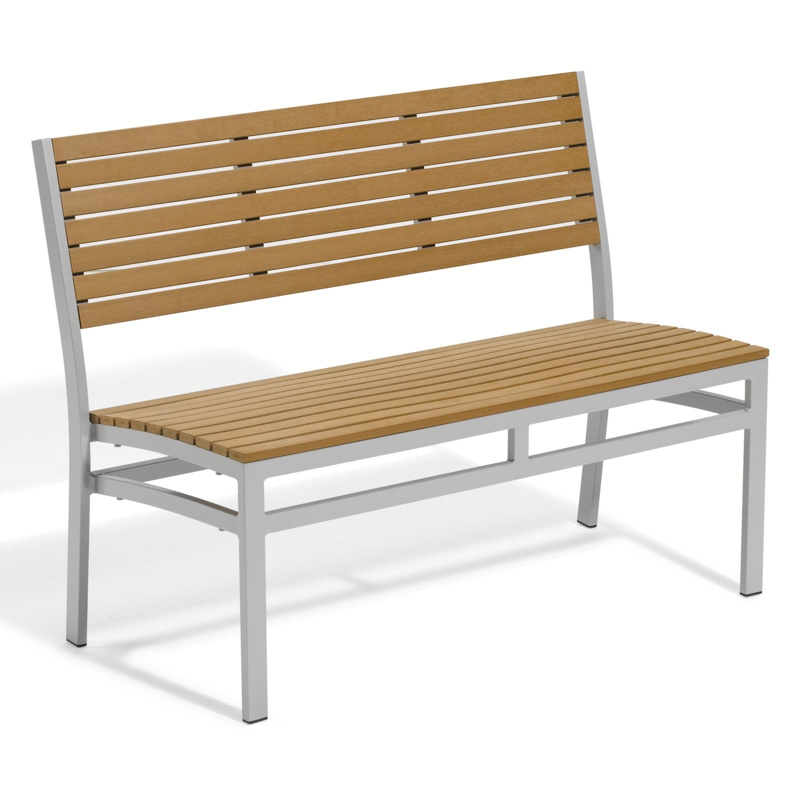 Enjoyable Outdoor Oxford Garden Travira 48 In Tekwood Stacking Bench Gmtry Best Dining Table And Chair Ideas Images Gmtryco