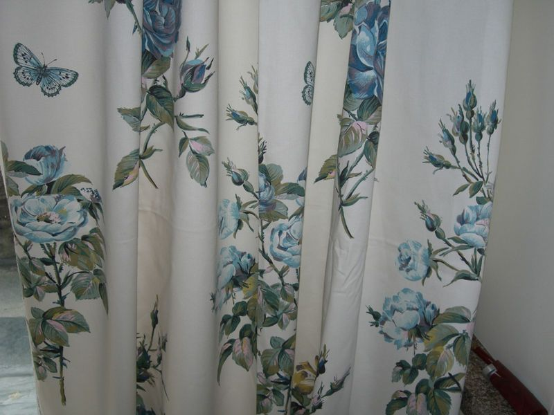 Curtains Made With Laura Ashley Memento Duck Egg