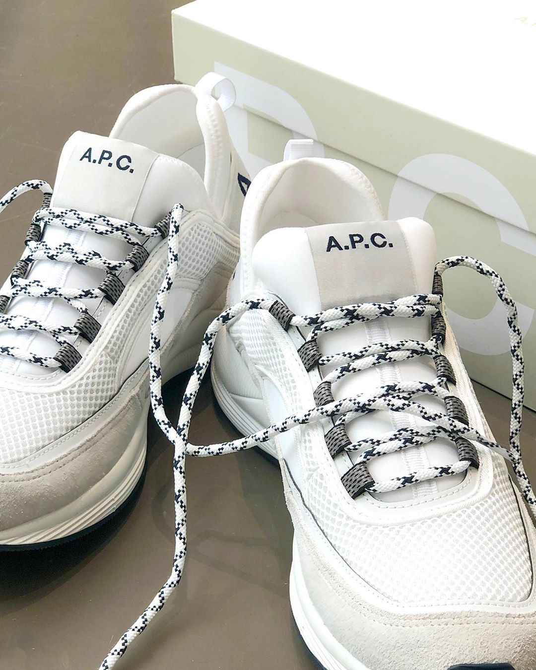 A P C On Instagram The Run Around Sneakers From The A P C Spring Summer 2019 Sneakers Names Are A Reference To The Sneakers Wedding Sneaker White Sneaker