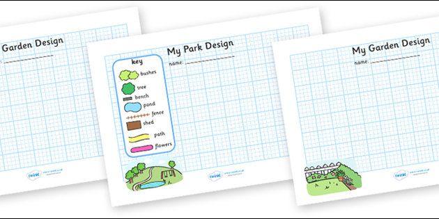 garden park design sheets - Garden Design Ks2