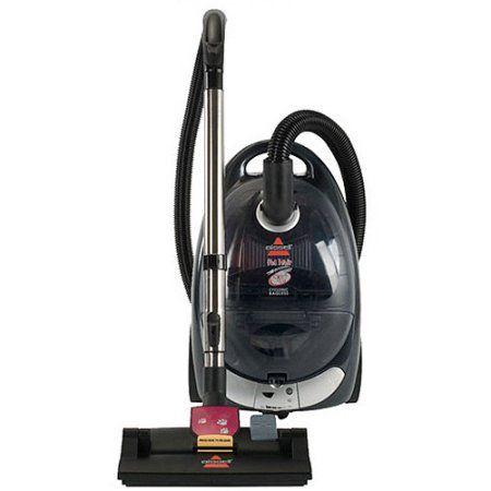 Bissell Bagless Pet Hair Eraser Cyclonic Canister Vacuum 66t6 Black Canister Vacuum Canister Vacuum Reviews Vacuums
