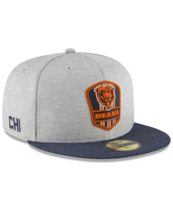 2c35eabf3 New Era Chicago Bears On Field Sideline Road 59FIFTY Fitted Cap - Blue 7 1 4