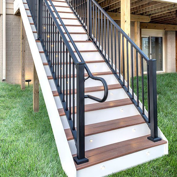 Best Trex Signature Stair Rail Baluster Kit Outdoor Stair 400 x 300