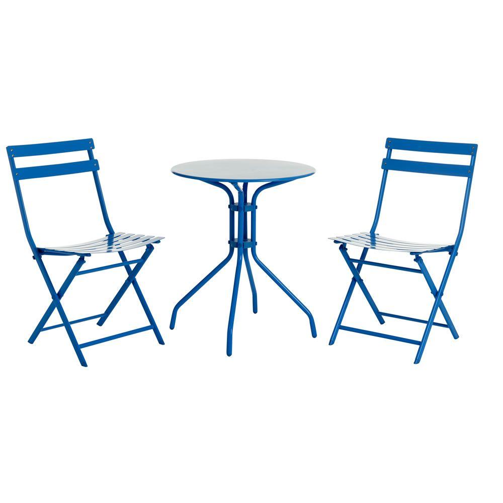 Wilko Garden Bistro Set Blue Metal | Wilko | SS17 Outdoor Furniture ...
