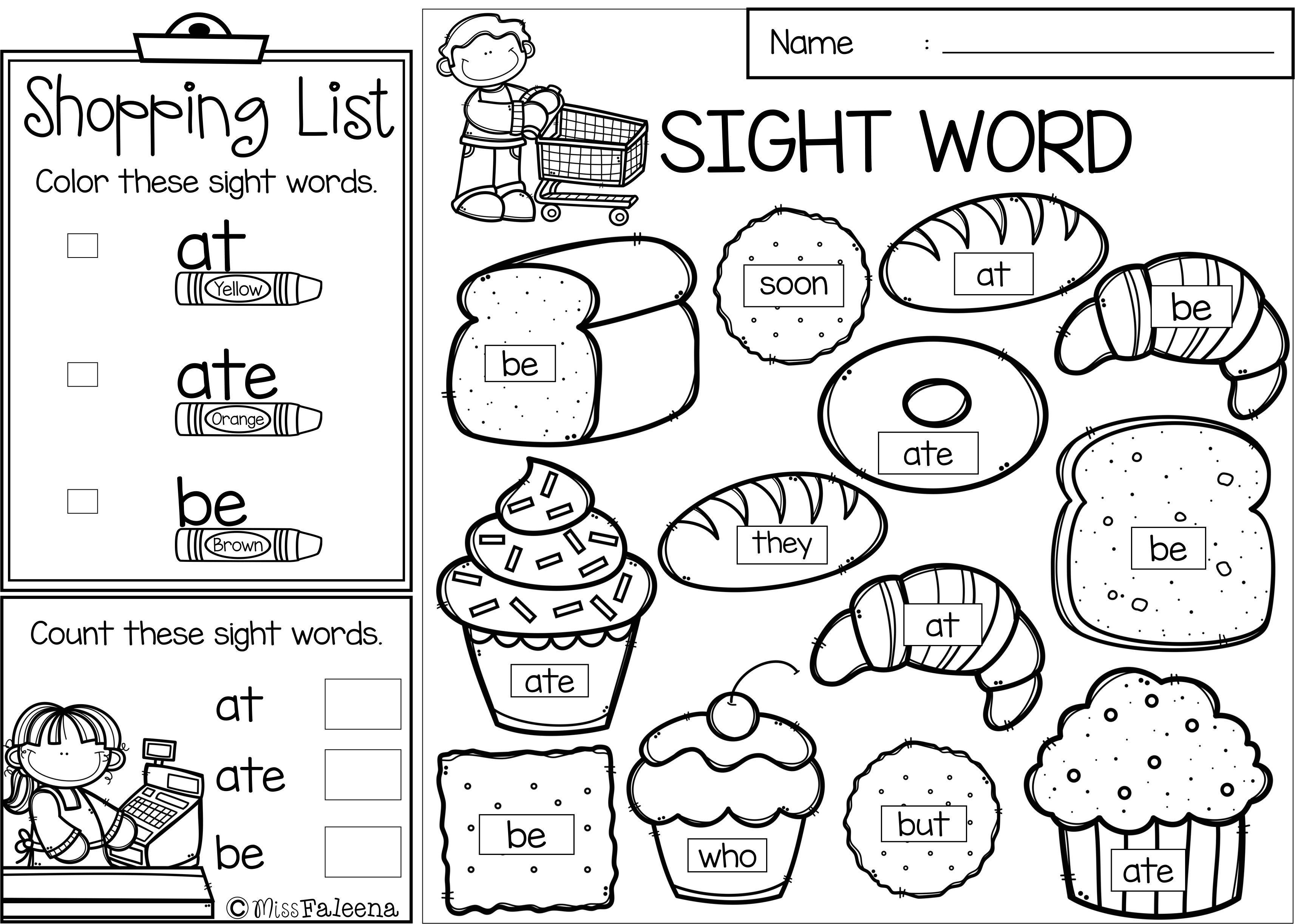 Sight Word Shop Primer Miss Faleena 39 s Store