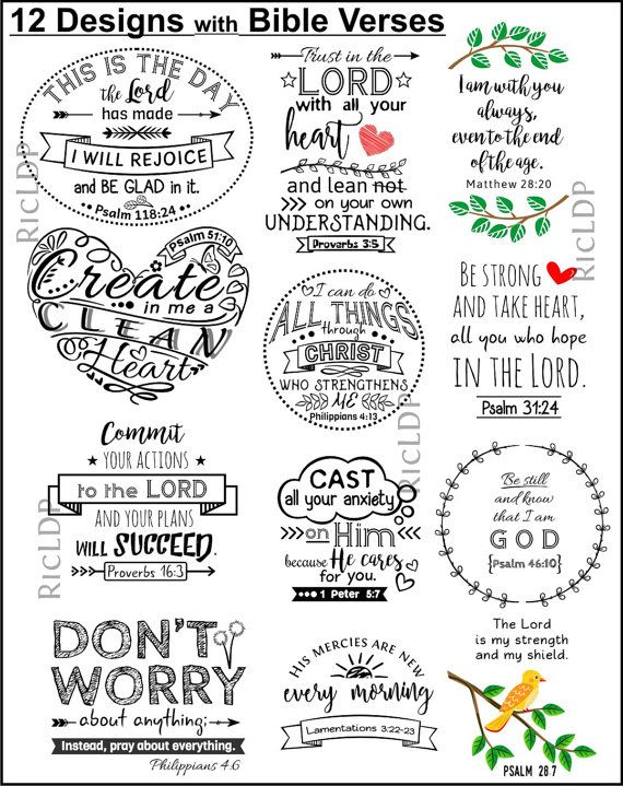Set of 12 DIY Cornerpage Bookmarks with Bible Verses plus