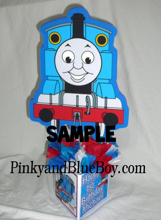 Admirable Thomas The Train Birthday Centerpiece Idea Centerpiece Home Interior And Landscaping Palasignezvosmurscom