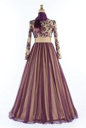 ac30ee28b2195 Tesettür giyimde uygun fiyatlı abiye elbise modelleri modamerve.com'da!
