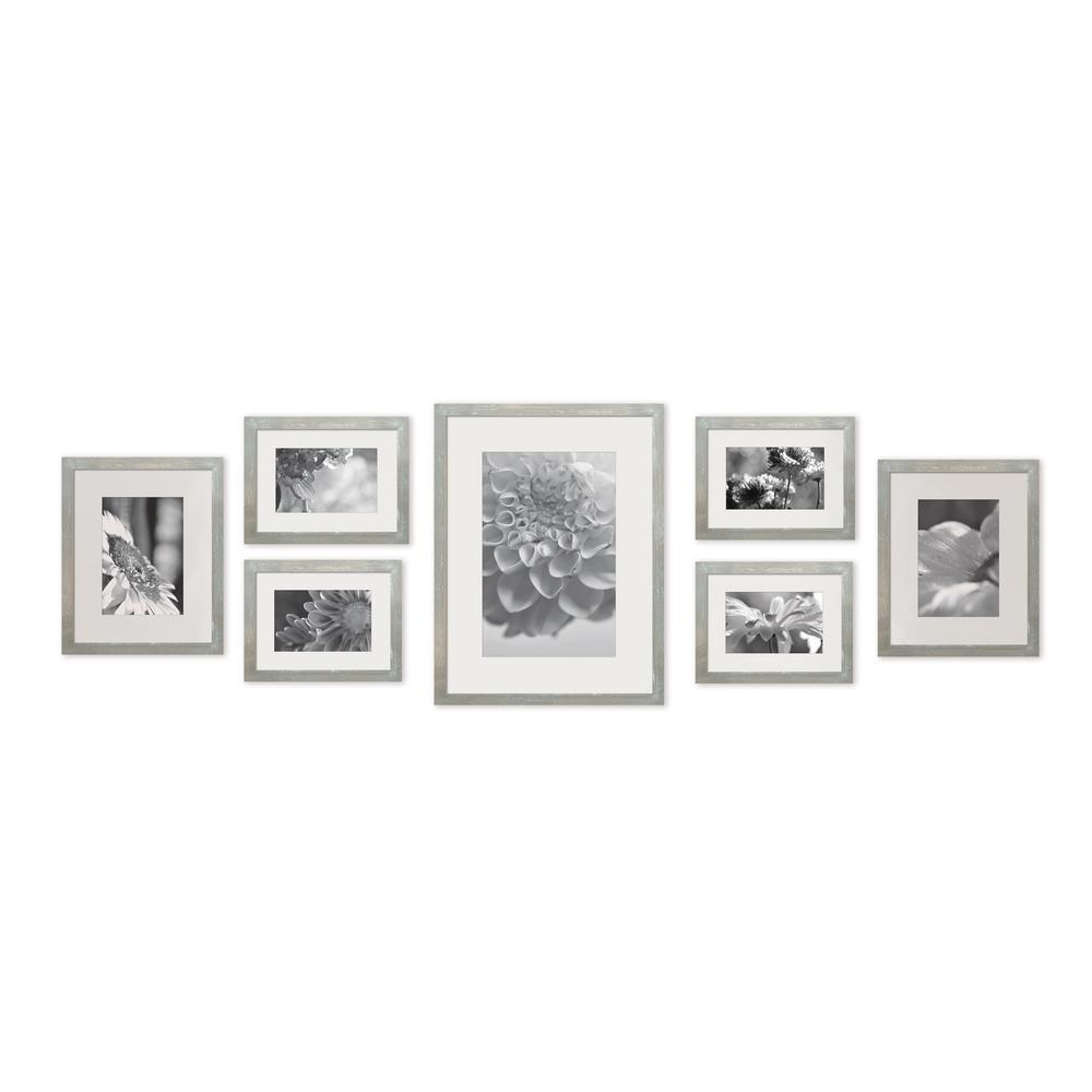 Pinnacle Gallery 4 In X 6 In 5 In X 7 In 8 In X 10 In Graywash Picture Frame Set Of 7 In 2020 Photo Wall Decor Gallery Wall Frames Frame Wall Decor