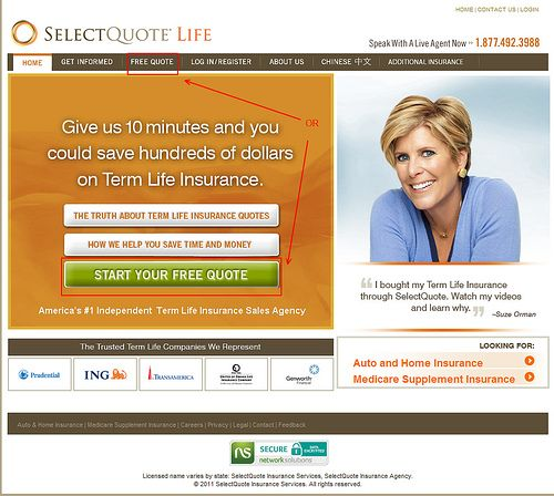 Select Quote Endearing Select Quote Is A Great Way To Get The Best Term Life Insurance . Design Decoration