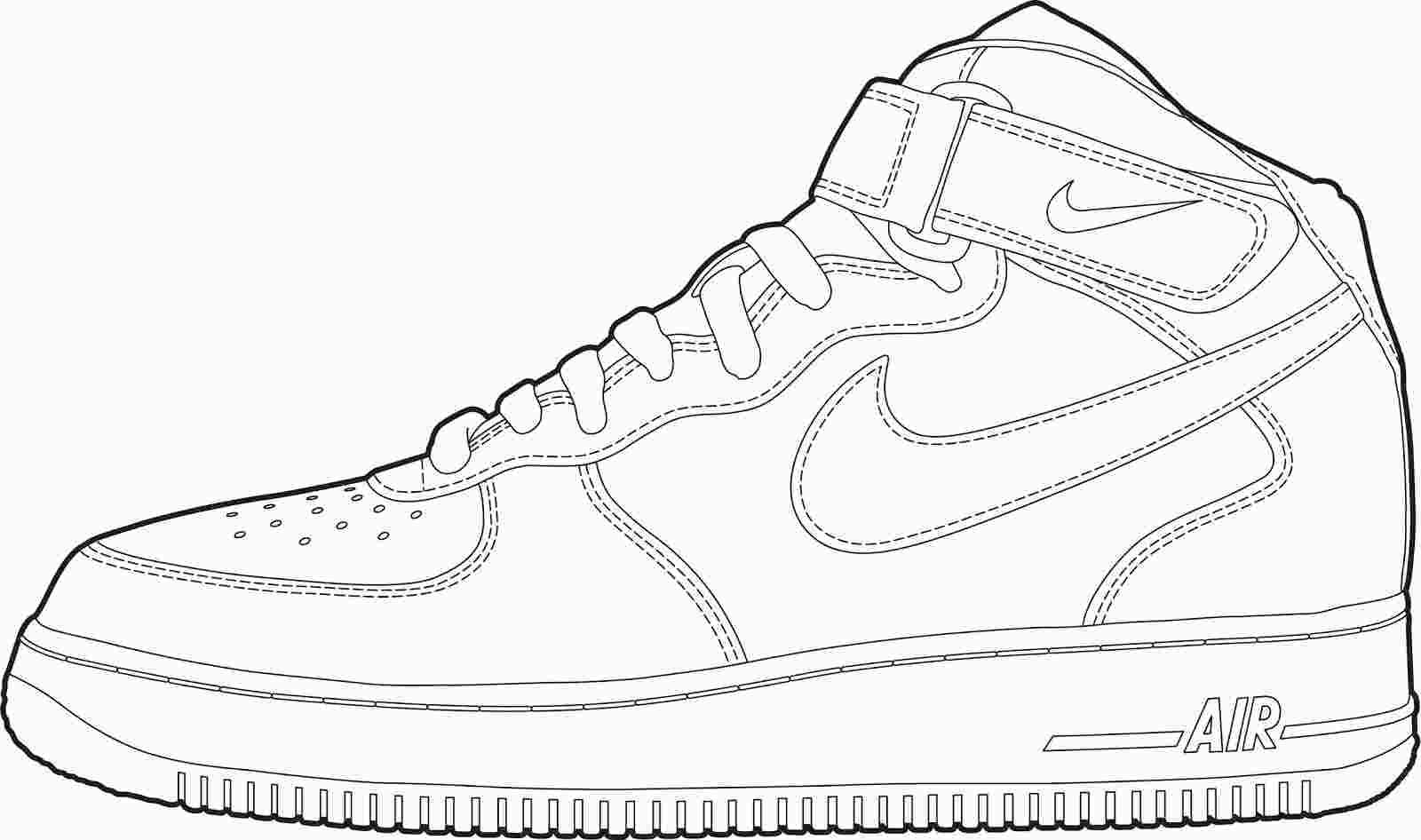 Air Force 1 Coloring Book Sneakers Sketch Pictures Of Shoes Sneakers Drawing
