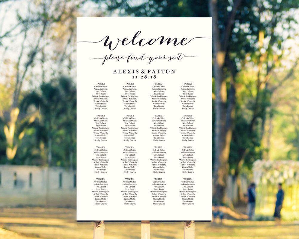 Wedding Seating Chart, Wedding Seating Chart Template ...