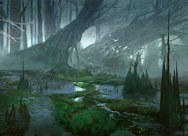 Swamp - Jung Park   Fantasy art landscapes, Fantasy landscape, Landscape  concept