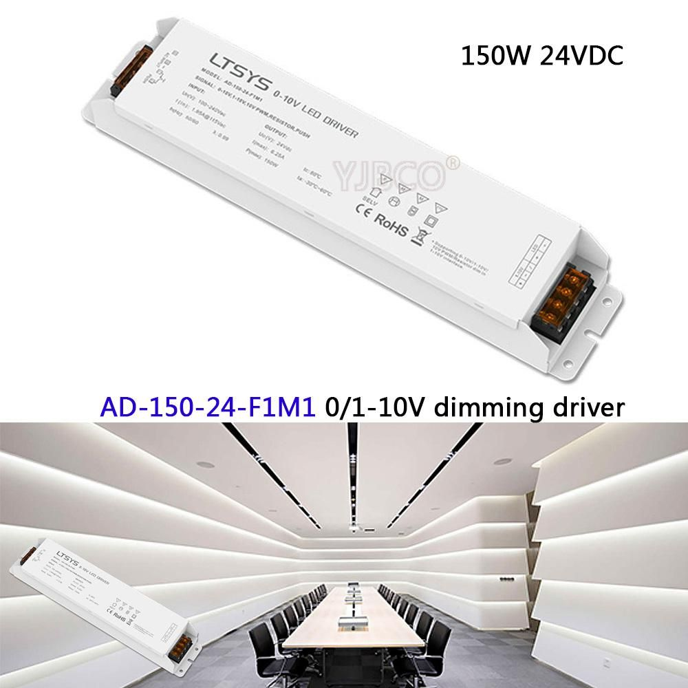 Ltech Free Shipping 0 1 10v Led Dimming Driver Ad 150 24 F1m1 Ac100 240v Input 24v 6 25a 150w Output Cv Led Driver Us 49 28 Led Dimmer Led Drivers Led