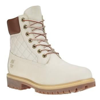 Timberland Premium Matelassé Homme Inch Icon Boots 6 Blanc YIbg6f7yv