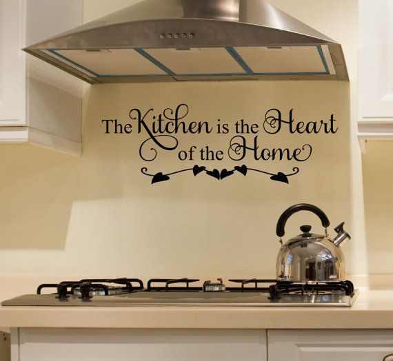 kitchen decals the kitchen is the heart of the home wall on wall stickers for kitchen id=74369