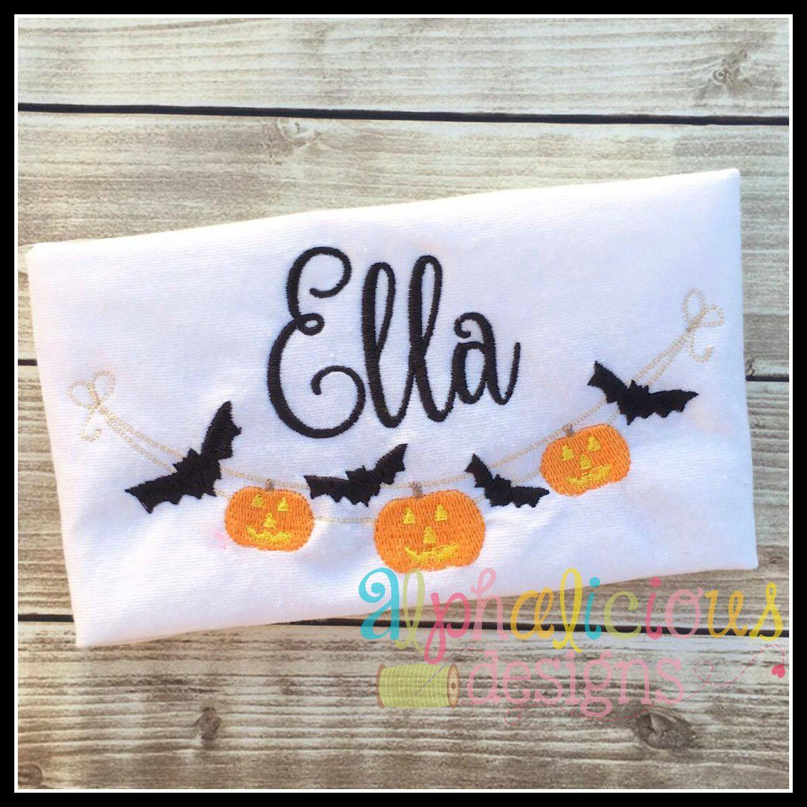 Spooky night embroidery swag alphalicious designs pinterest