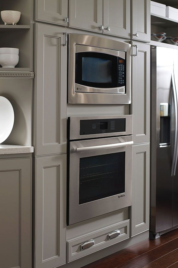 Oven And Microwave Cabinet Homecrest Cabinetry Wall