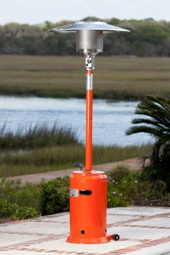 Fire Sense Powder Coated Patio Heater Color Orange By Fire Sense