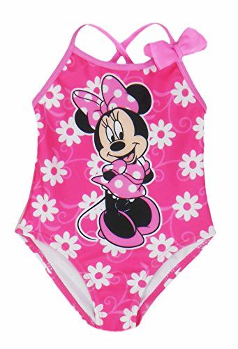ccf0ba4498 Disney Toddlers Minnie Mouse with Daisy Flowers One Piece Swimsuit Pink 3T  -- Check out this great product.