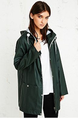BDG Fisherman Rain Jacket in Khaki | European | Pinterest ...