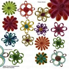 scrapbook flower embellishments - Google Search