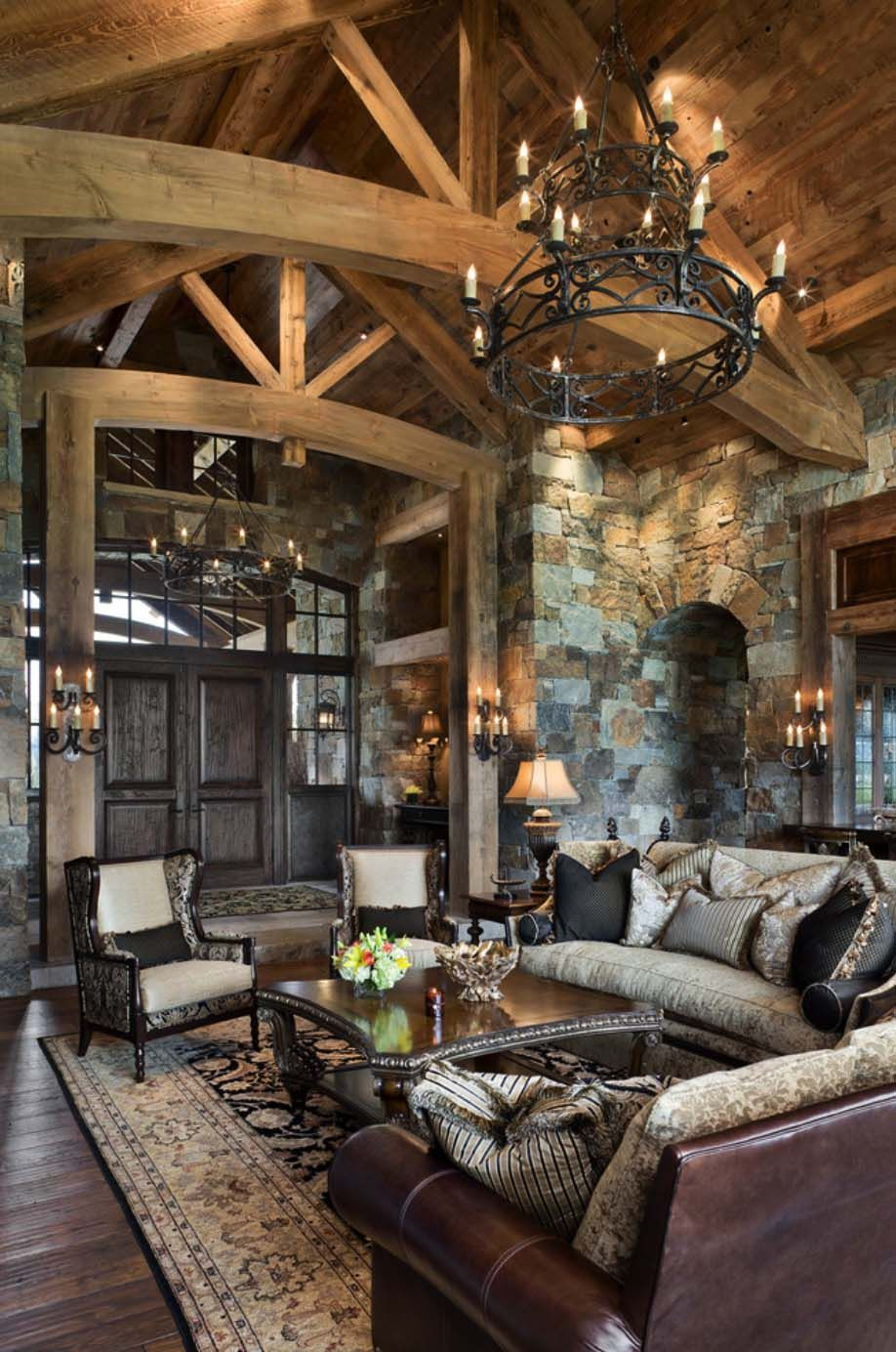 Home Decor Interior Design: Rustic Yet Refined Mountain Home Surrounded By Montana's