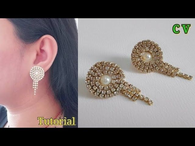 How To Make Designer Earrings Jewellery making Stud Earrings