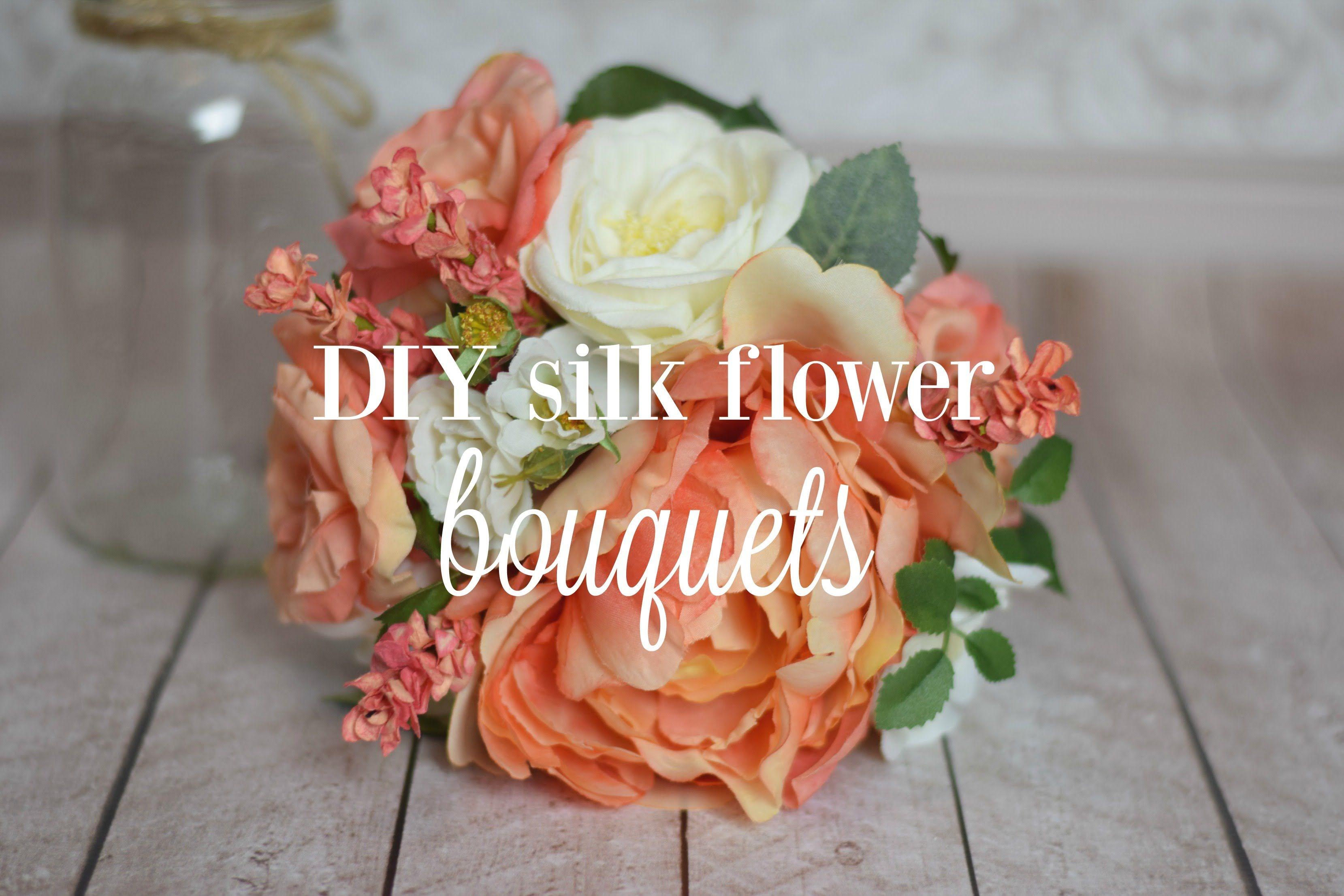 Diy silk flower bouquets wedding bouquet pinterest silk diy silk flower bouquets izmirmasajfo