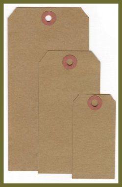 Kraft Kottage- brown shopping bags, hang tags and price tags