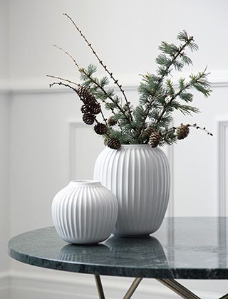 Skandinavische Wohnaccessoires kähler design hammershøi vasen elbdal de skandinavische