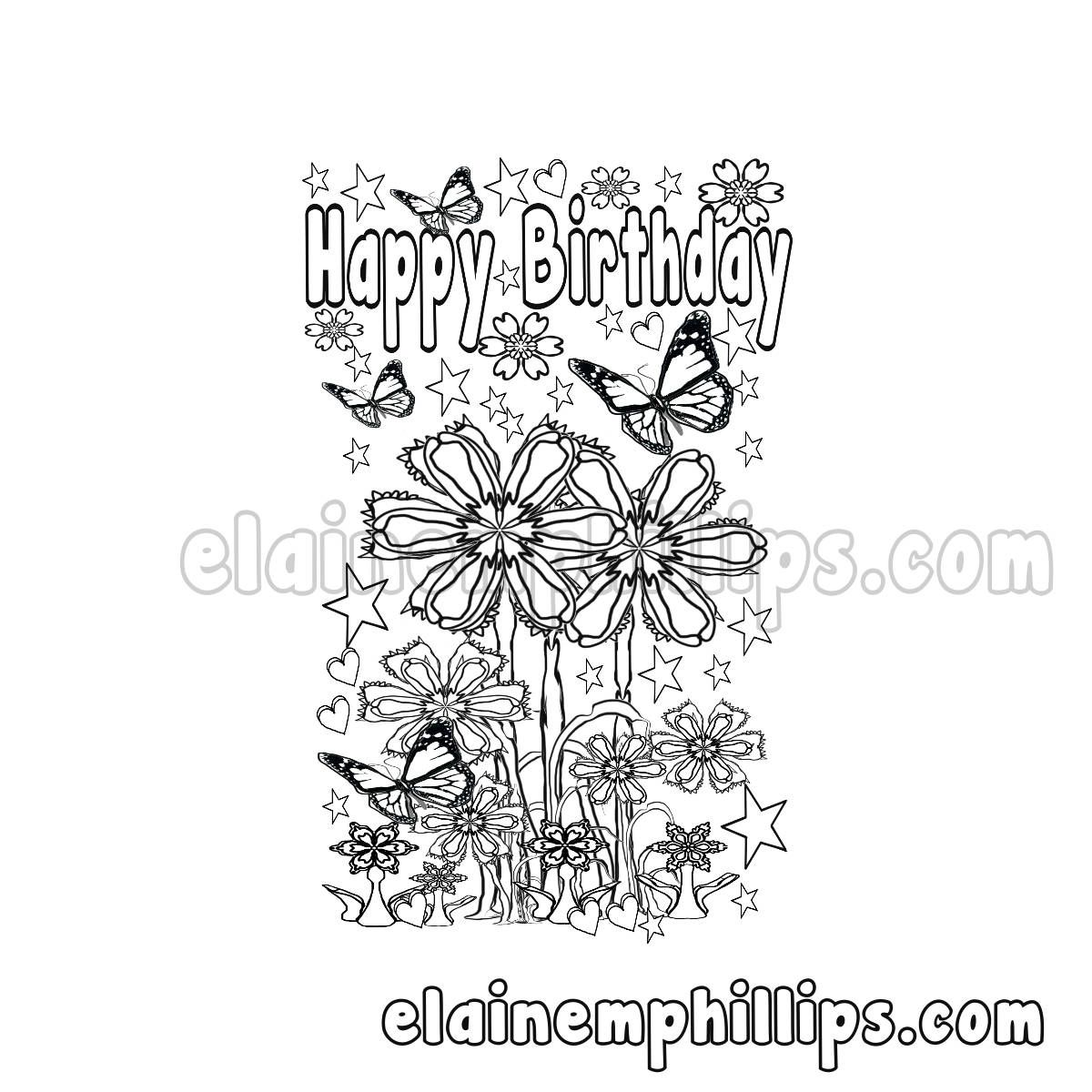 - Happy Birthday Printable Card , Color Me A Birthday Card Make That