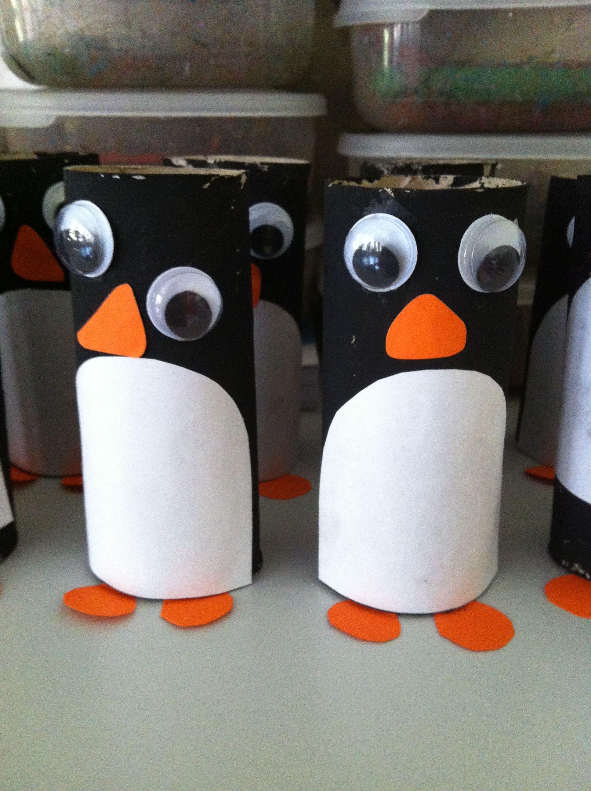 Ping inos hechos con rollos de papel ping inos - Manualidades con rollos de papel higienico navidenos ...