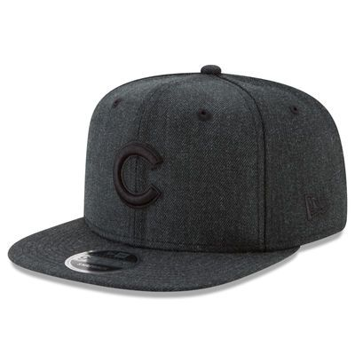 Men s Chicago Cubs New Era Heathered Black Total Tonal 9FIFTY Adjustable  Snapback Hat 7c2d00a9661