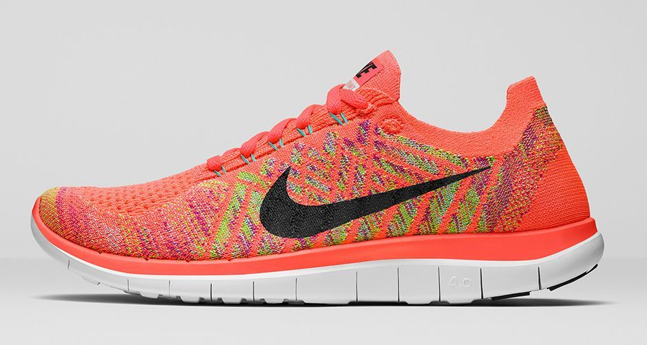 on sale 95af0 4f1a1 Men s Nike Free 4.0 Flyknit 717075-600 Bright Crimson Hot Lava Volt Black