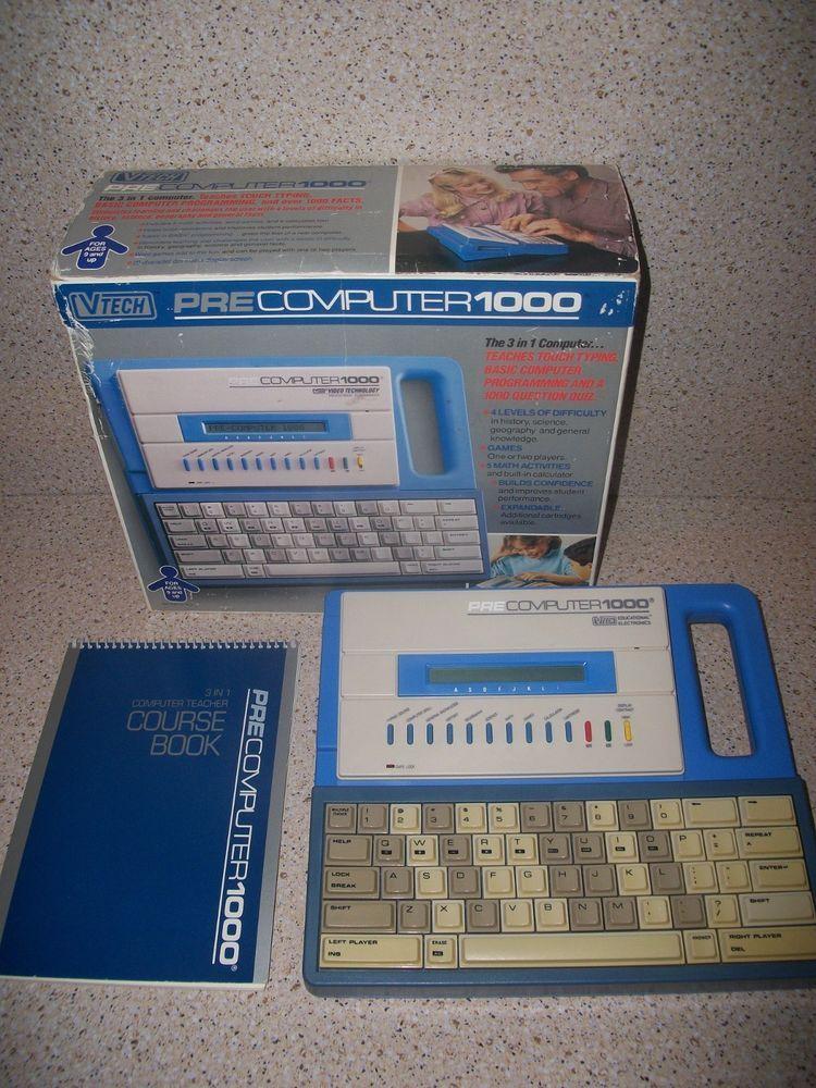 Vintage VTech Precomputer 1000 Educational Laptop Computer w
